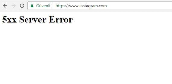 Instagram çöktü Kullanıcılar Servislere Erişemiyor