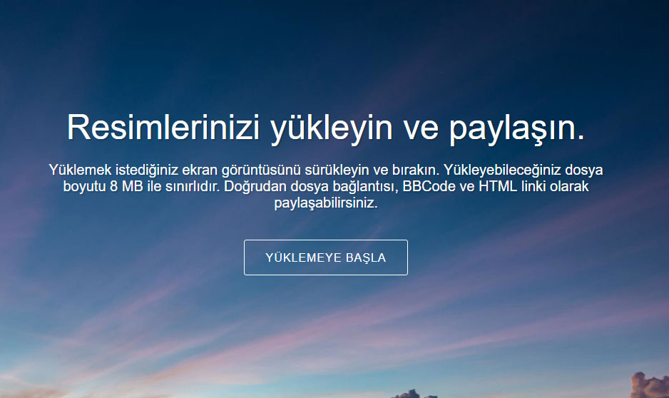 """Ekran Görüntüsü """"Screenshot"""" Yükleme Siteleri"""