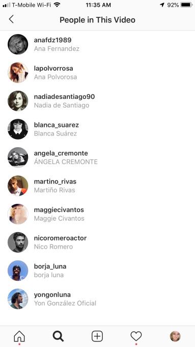 Instagram Videolarında Arkadaş Etiketleme Özelliği